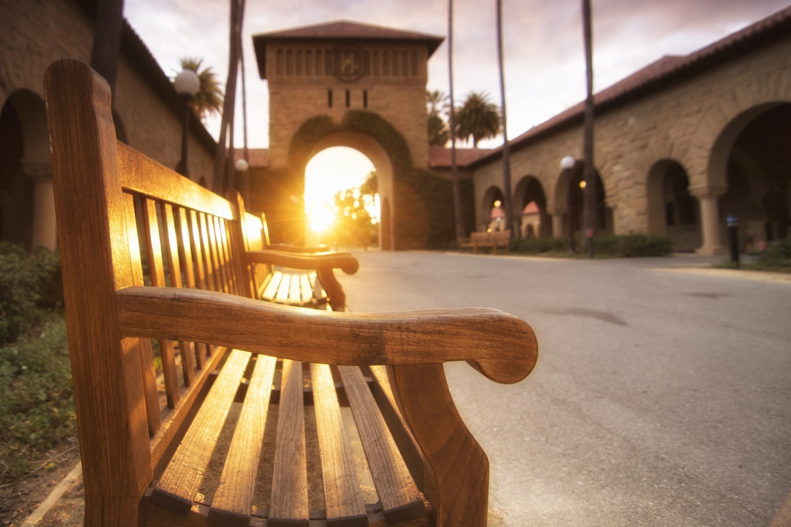 Sunset at Stanford University